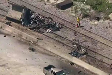Texas train crash leaves at least 2 dead, police say