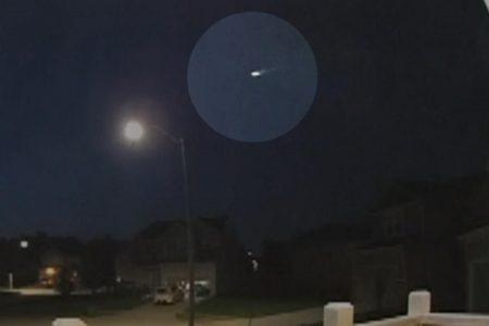Doorbell camera captures fireball flashing through the sky in Missouri