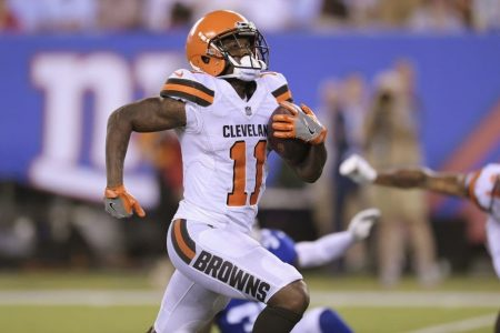 The Browns punished Antonio Callaway by refusing to take him out of a preseason game