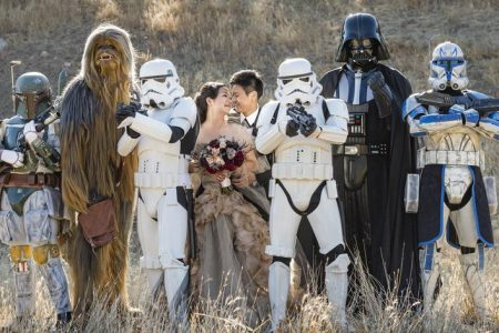 Darth Vader, Your Presence Is Required at Our Star Wars Wedding