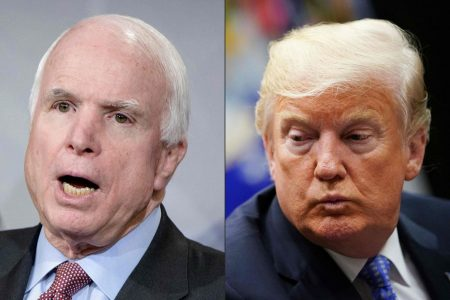 Trump rejected plans for a White House statement praising McCain