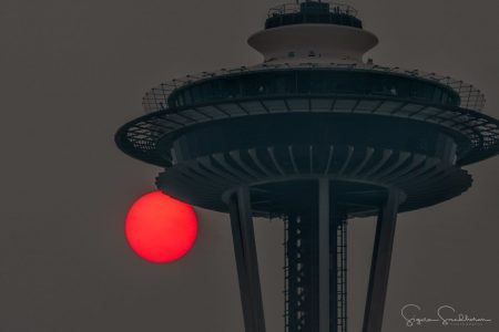 Wildfire smoke is choking Seattle, obscuring the view and blocking out the sun