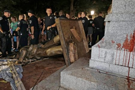 Three people charged, and UNC prepares for possible protests, after Confederate monument Silent Sam is toppled