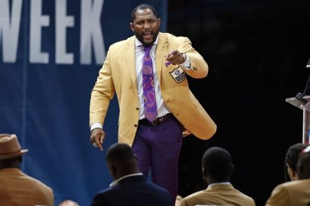 Sweat-soaked Ray Lewis and his fiery monologue headline Hall of Fame inductions