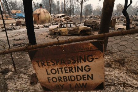As fires rage statewide, a burned out California mining town looks to rebuild