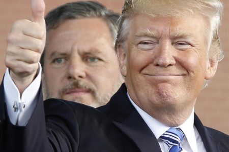Jerry Falwell Jr. defends Trump over report he took credit for repealing law still on the books