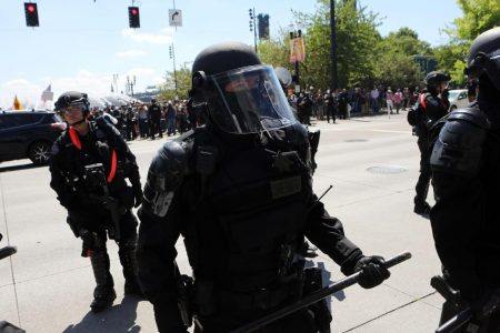 Portland far-right rally, counter-protest lead to some arrests, injuries
