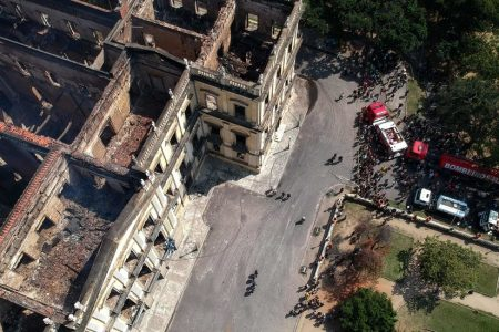 Brazil Museum Fire Leaves Ashes, Recrimination and Little Else