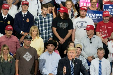 How 'Plaid Shirt Guy' Got Prime Seating at a Trump Rally