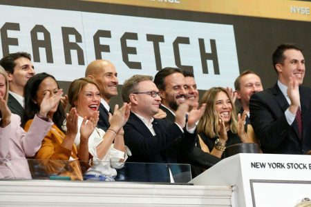 Shares of luxury online marketplace Farfetch jump 52 percent in IPO's first day of trading