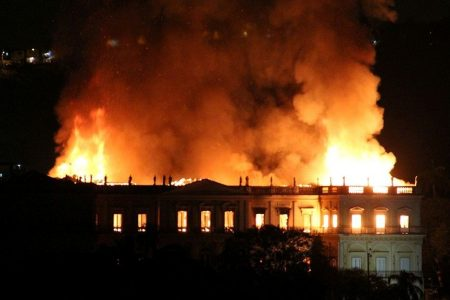 Brazil firefighters try saving relics at 200-year-old National Museum after massive blaze