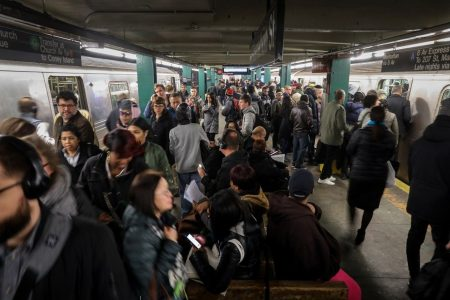 MTA officials say New York City subway riders are partly to blame for delays