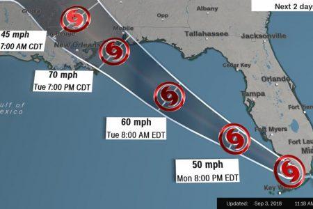 Tropical Storm Gordon brings hurricane warning for parts of Gulf Coast