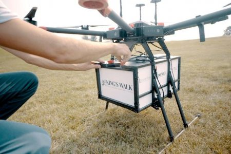 A North Dakota golf course is dropping burgers from a drone