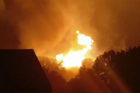 Gas line explosion leads to evacuations in western Pennsylvania town