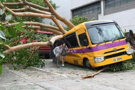 Typhoon Mangkhut: Hong Kong in tatters and China evacuates millions