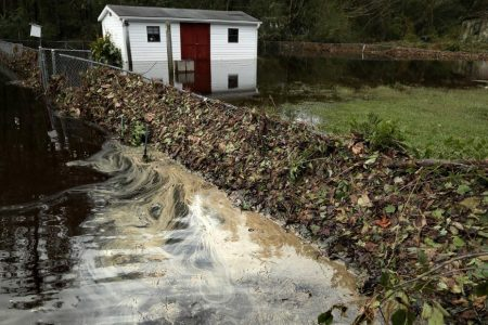 Residents warned to stay out of coastal waters in Florence aftermath