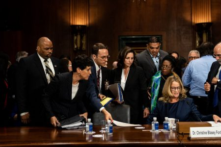Brett Kavanaugh and Christine Blasey Ford Square Off in Emotional Hearing With Court in Balance