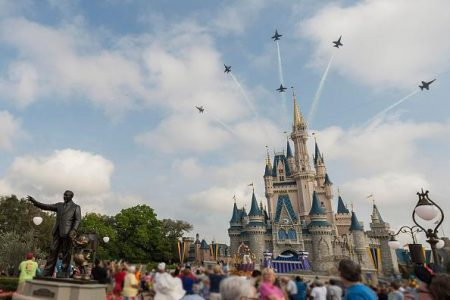 Watch: Trump Supporter Hangs Re-Election Banner at Disney World
