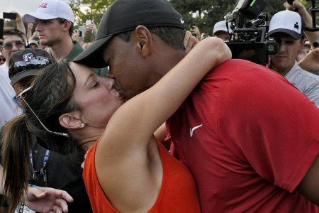 Tiger Woods And Girlfriend Erica Herman Pack On The PDA After His Big Win