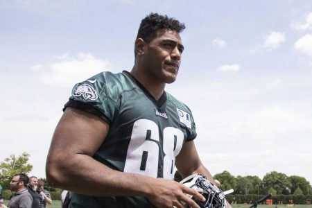Too big for rugby, Eagles tackle Mailata is ready for NFL