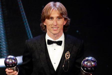 Modric wins FIFA world player of year, ends Ronaldo-Messi duology; Salah has goal of year