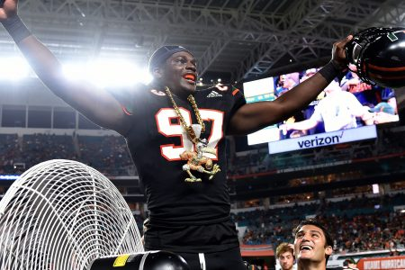 No. 16 Miami routs North Carolina behind school record-tying three defensive touchdowns