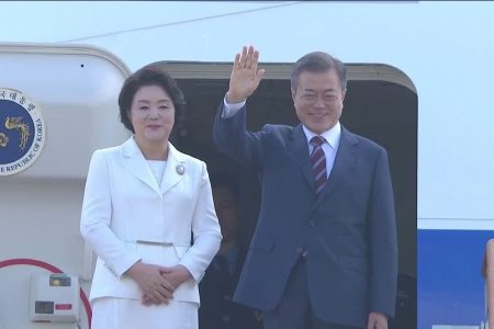 South Korea's Moon travels to Pyongyang in bid to revive stalled nuclear talks