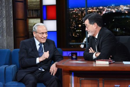 'I think you buried the lede': Stephen Colbert asks Bob Woodward about the final line of his book