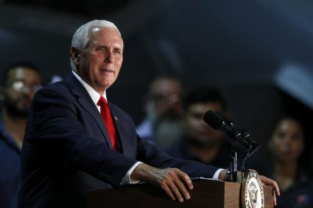 Pence plays role of Trump's ardent defender in wake of Times op-ed and Woodward book