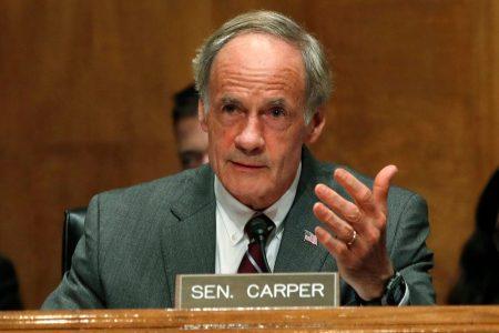 Sen. Thomas Carper of Delaware faces challenge in Thursday primary