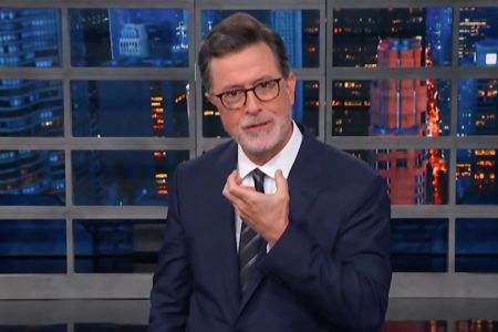 Stephen Colbert returns from vacation with a disconcerting beard