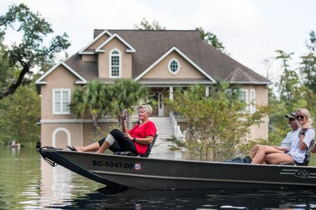 Flooding envelops South Carolina homes as Florence death toll rises