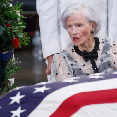 John McCain's 106-year-old mother says goodbye to son at Capitol ceremony