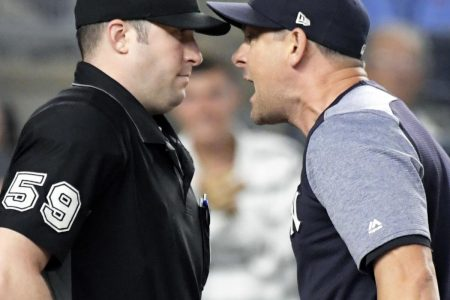 Yankees Manager Aaron Boone Suspended 1 Game for Making Contact with Umpire
