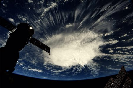Hurricane Florence Looks Like a Huge Cotton Ball From Space