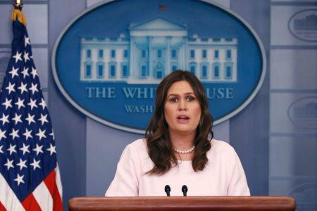 Huckabee Sanders defends lack of press briefings