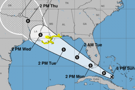 Tropical storm watch issued for parts of Louisiana, Mississippi, Florida