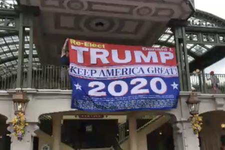 Man sneaks 're-elect Trump' banner into Disney World's Magic Kingdom
