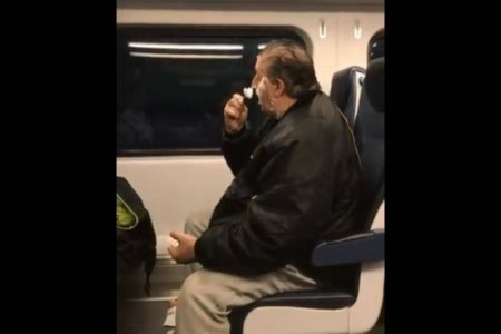 Homeless Man Shaving on Train in Viral Video Responds to Vitriol: 'My Life Is All Screwed Up'