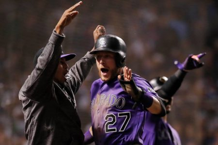 NL Wild Card: Rockies Outlast Cubs With a Clutch Hit From an Unlikely Source
