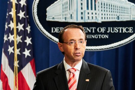 Trump Says He Has No Plans to Fire Rod Rosenstein
