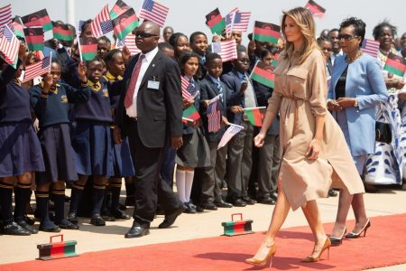 Melania Trump Greeted With 'Not a Shithole' Sign as a 'Welcome to Malawi'