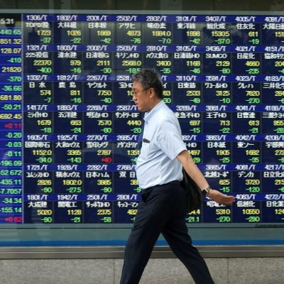 Japanese stocks fall near 3 percent following Wall Street sell-off
