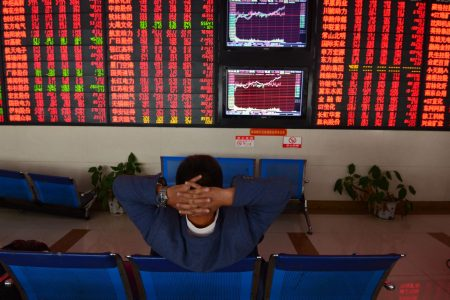 China stocks surge more than 4.5 percent, extending Friday's rally