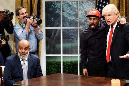 'SNL' Mocks Kanye West's White House Visit With President Trump