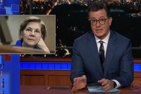 Stephen Colbert Says Warren's DNA Test Reveals She 'Is Running for President'