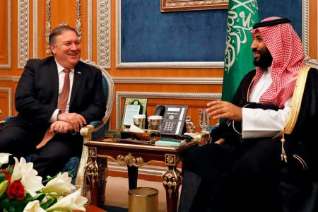 In Riyadh, Pompeo's Grin Contrasts With Image as Tough-Talking Diplomat