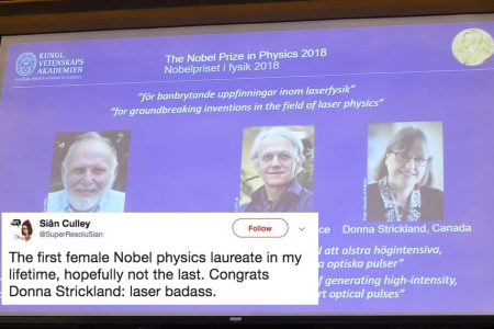 A woman has just won the Nobel Prize in Physics for the first time in 55 years