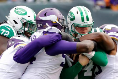The Jets, Their Quarterback Facing Their Would-Be Quarterback, Lose to the Vikings